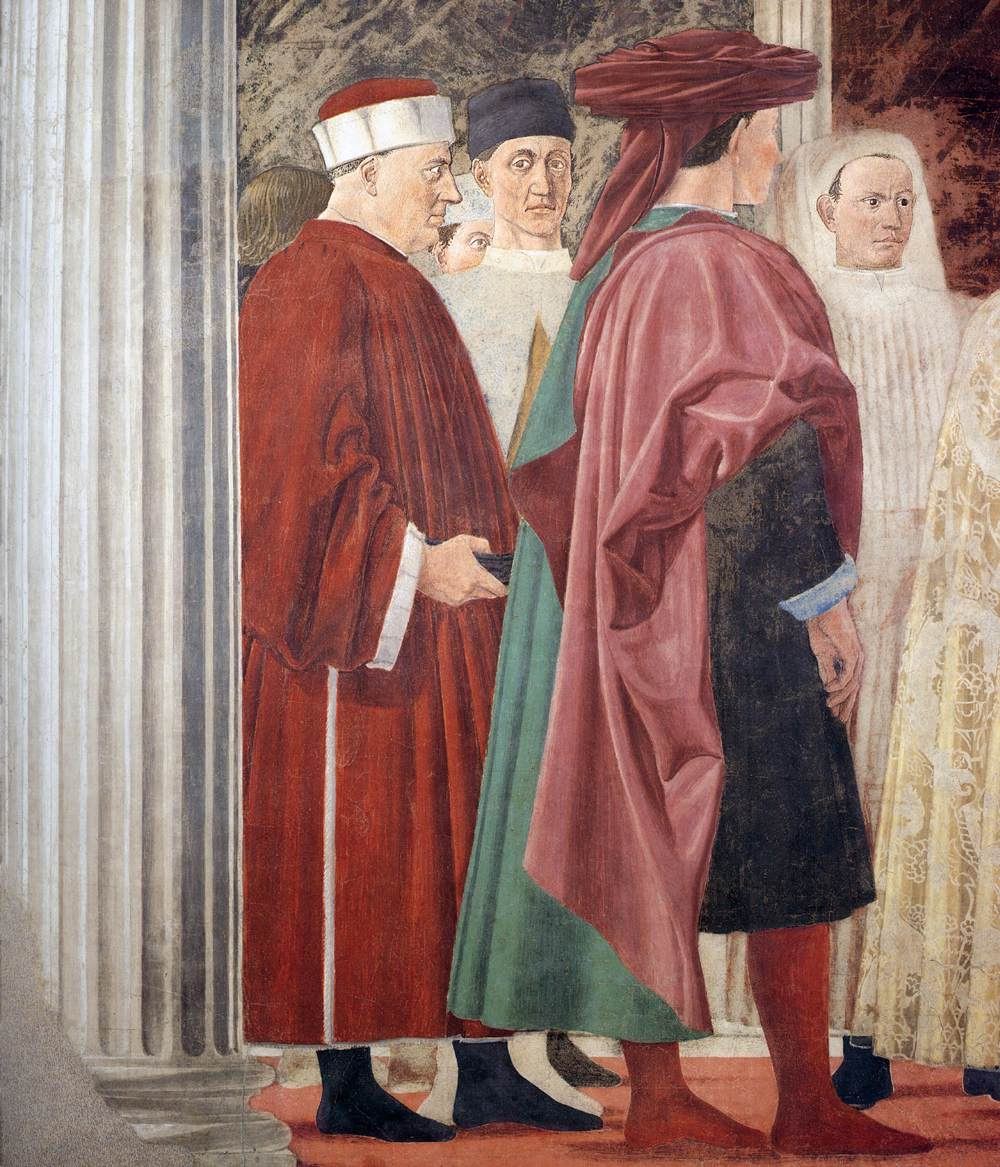 a description of the meeting of solomon and the queen of sheba on francesco del cossas Piero della francesca   chronology of his works frescoes, san francesco including the story of king solomon's meeting with the queen of sheba in a.