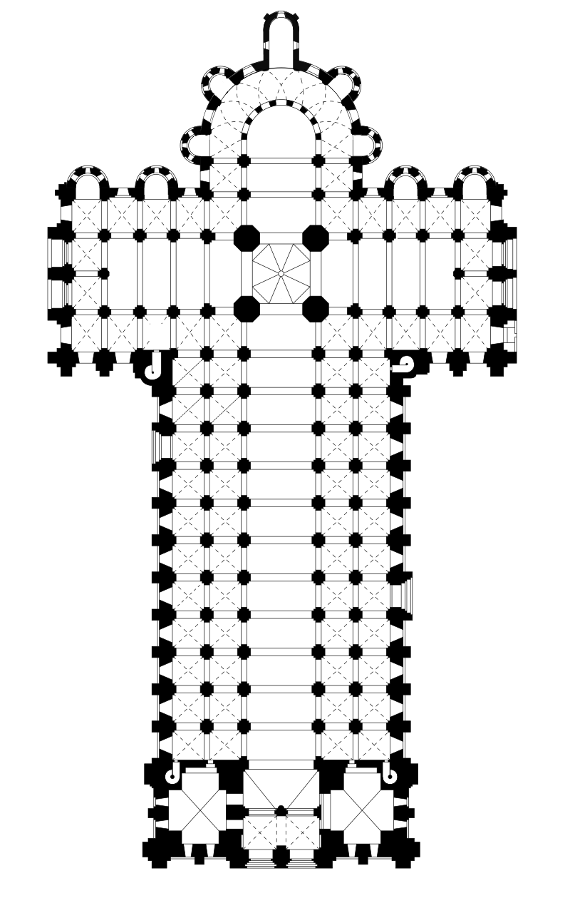 Plan de Saint-Sernin