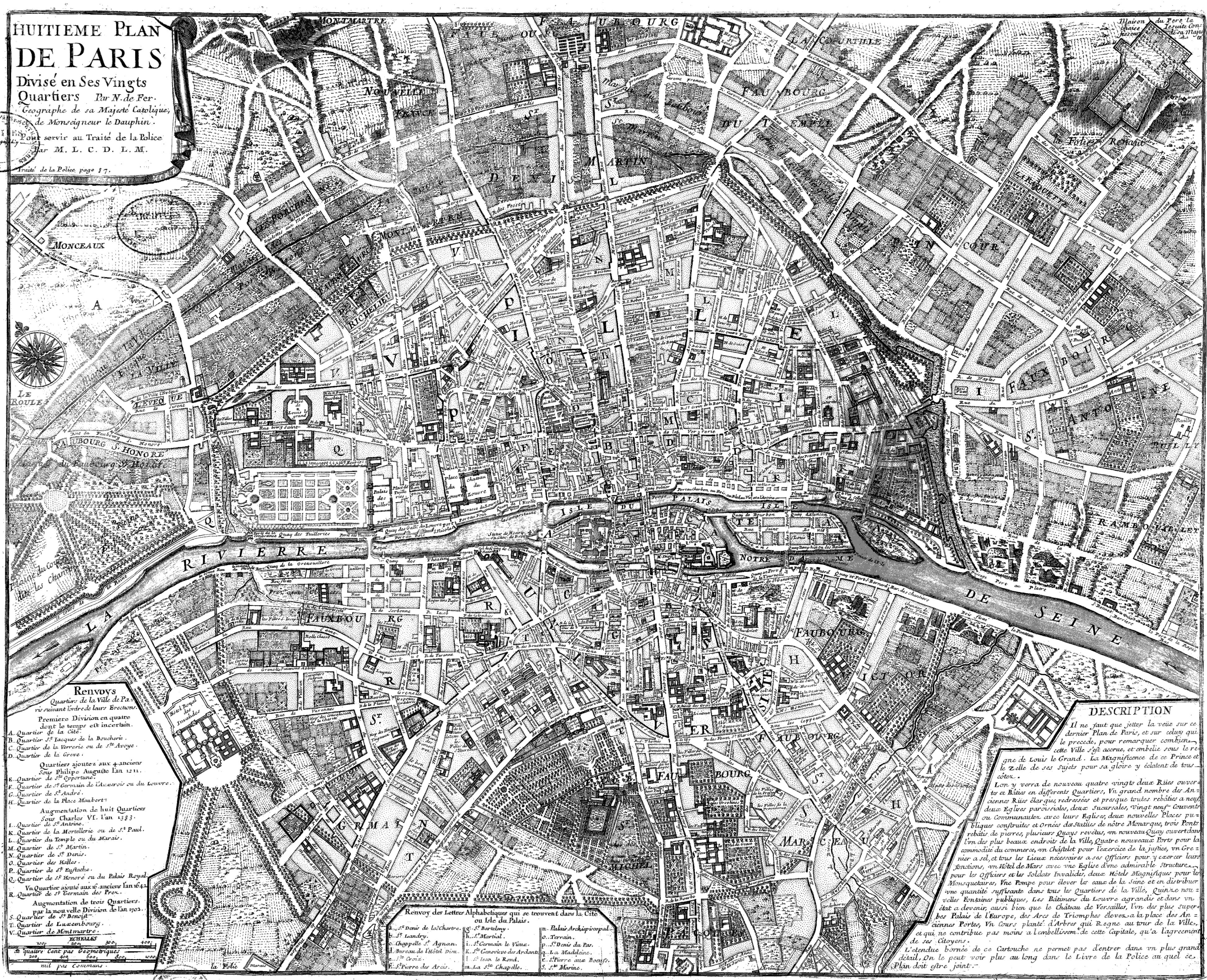 Can you find your street on this street map from 1705 ? : paris