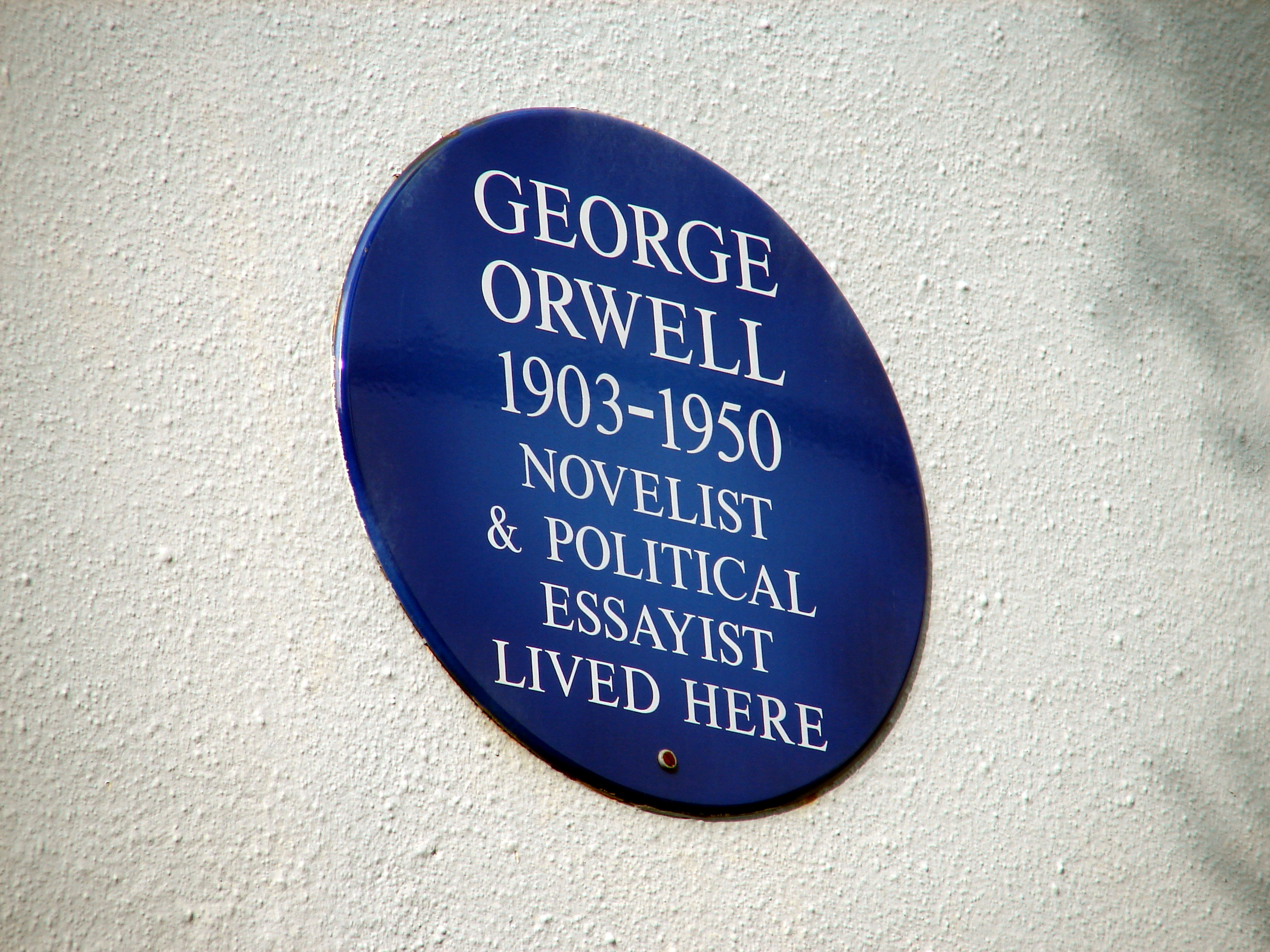 El Tópic de George Orwell - Página 4 Plaque_to_George_Orwell_at_22_Portobello_Road_%284643969489%29
