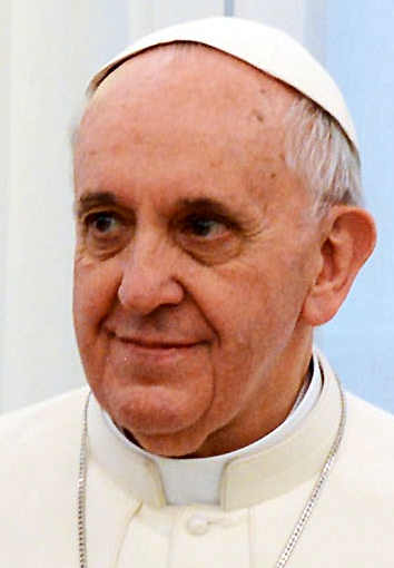 From commons.wikimedia.org: Pope Francis {MID-71475}