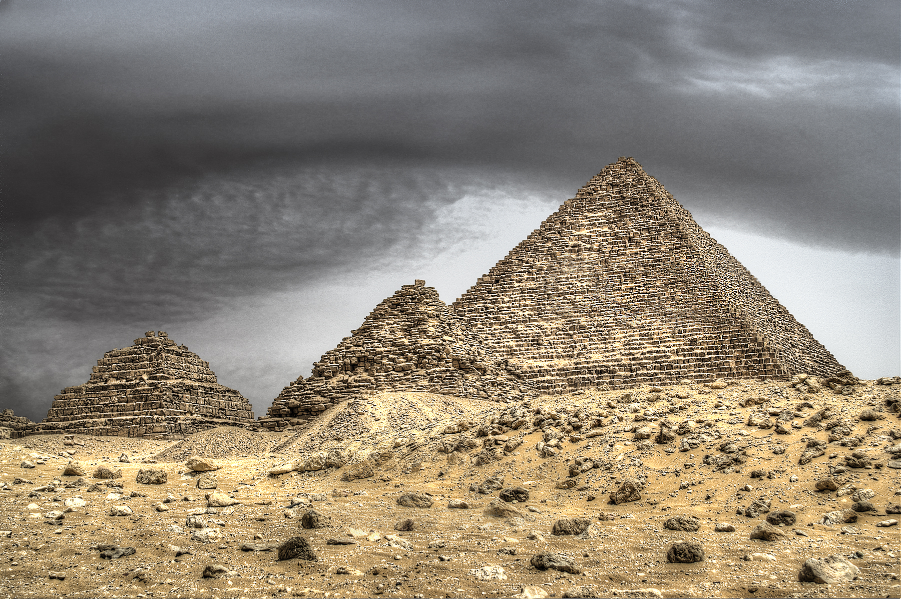 The Pyramid of Menkaure.