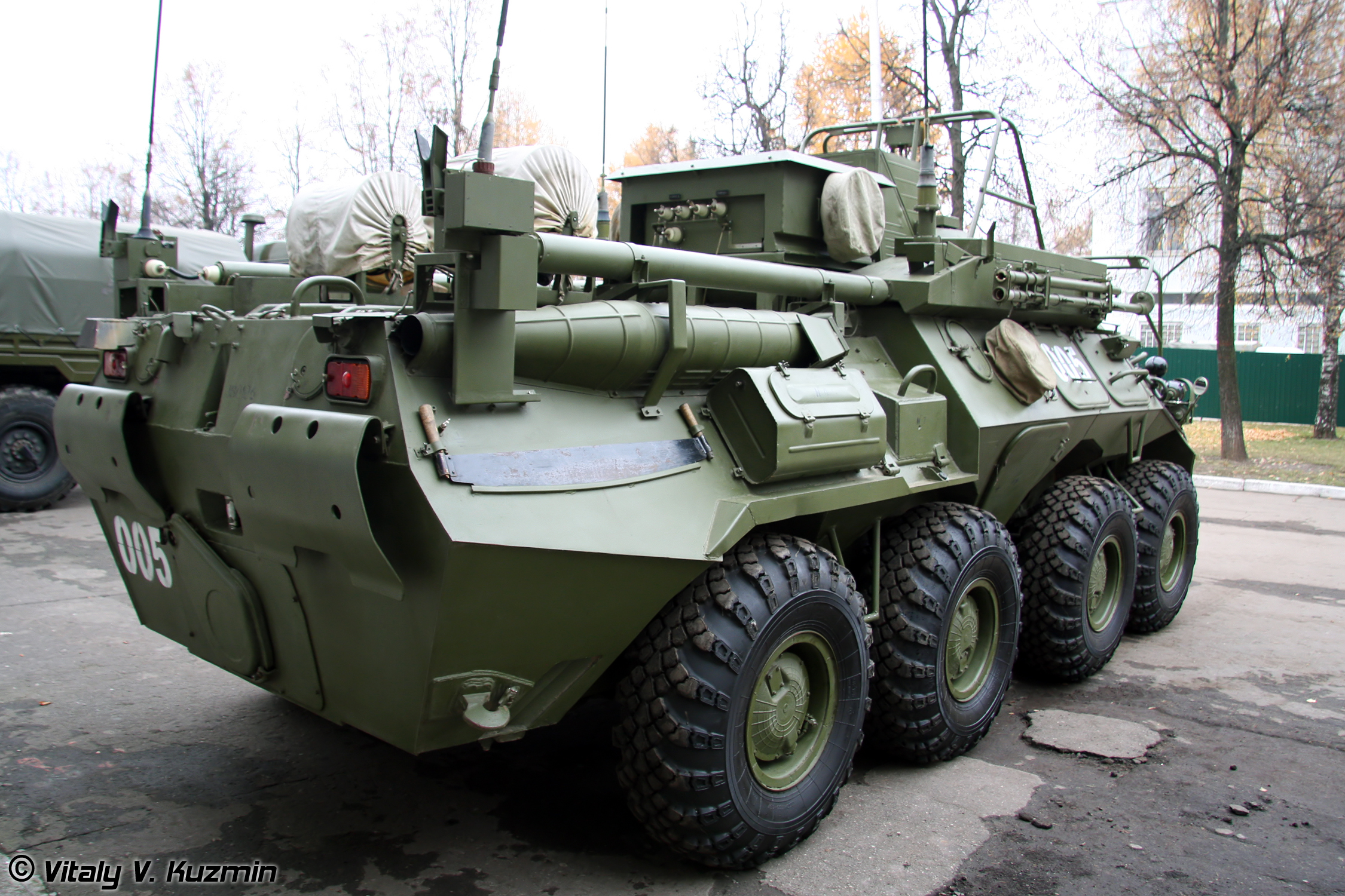 The 74th Guards Motorized Rifle Brigade received the first upgraded BMP-2M with Berehok module 94