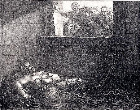 Ragnar Lodbroks död by Hugo Hamilton