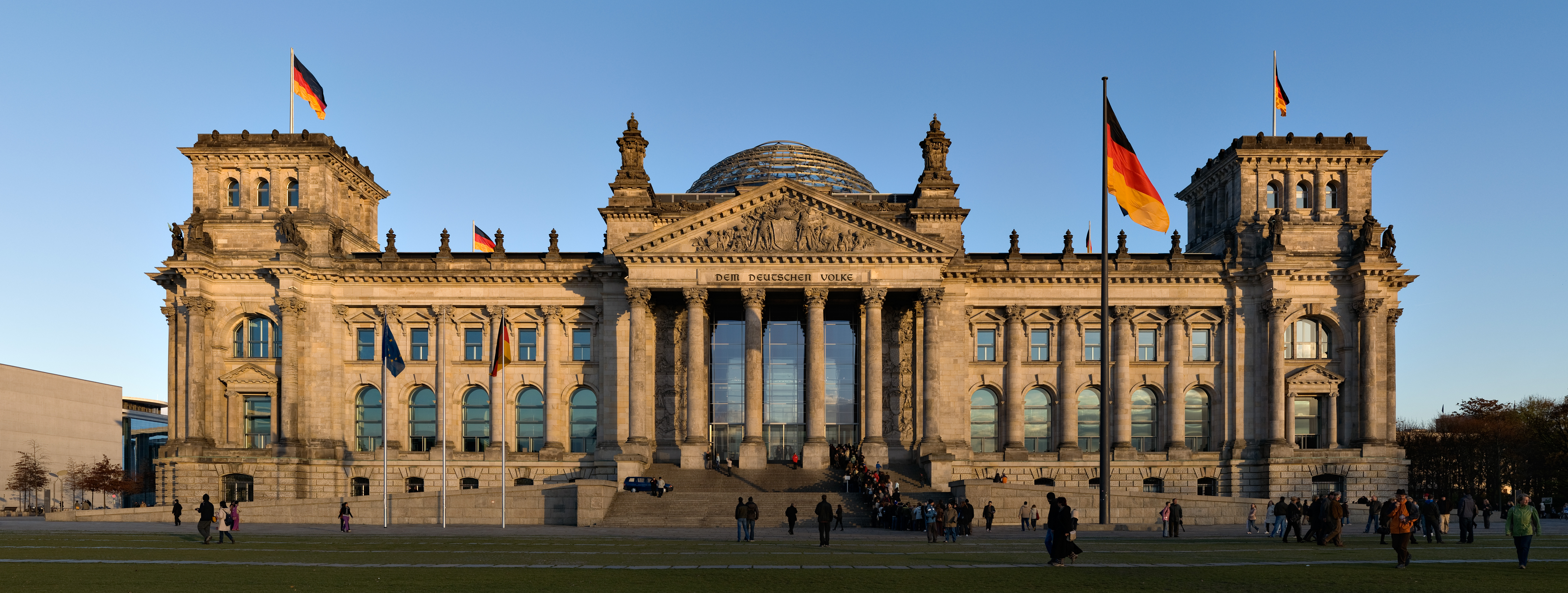 Reichstagsgebäude in Tiergarten, Sitz des Deutschen Bundestags