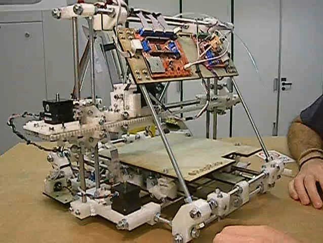 The RepRap 2.0 3-D Printer, which makers hope will be able to replicate itself.