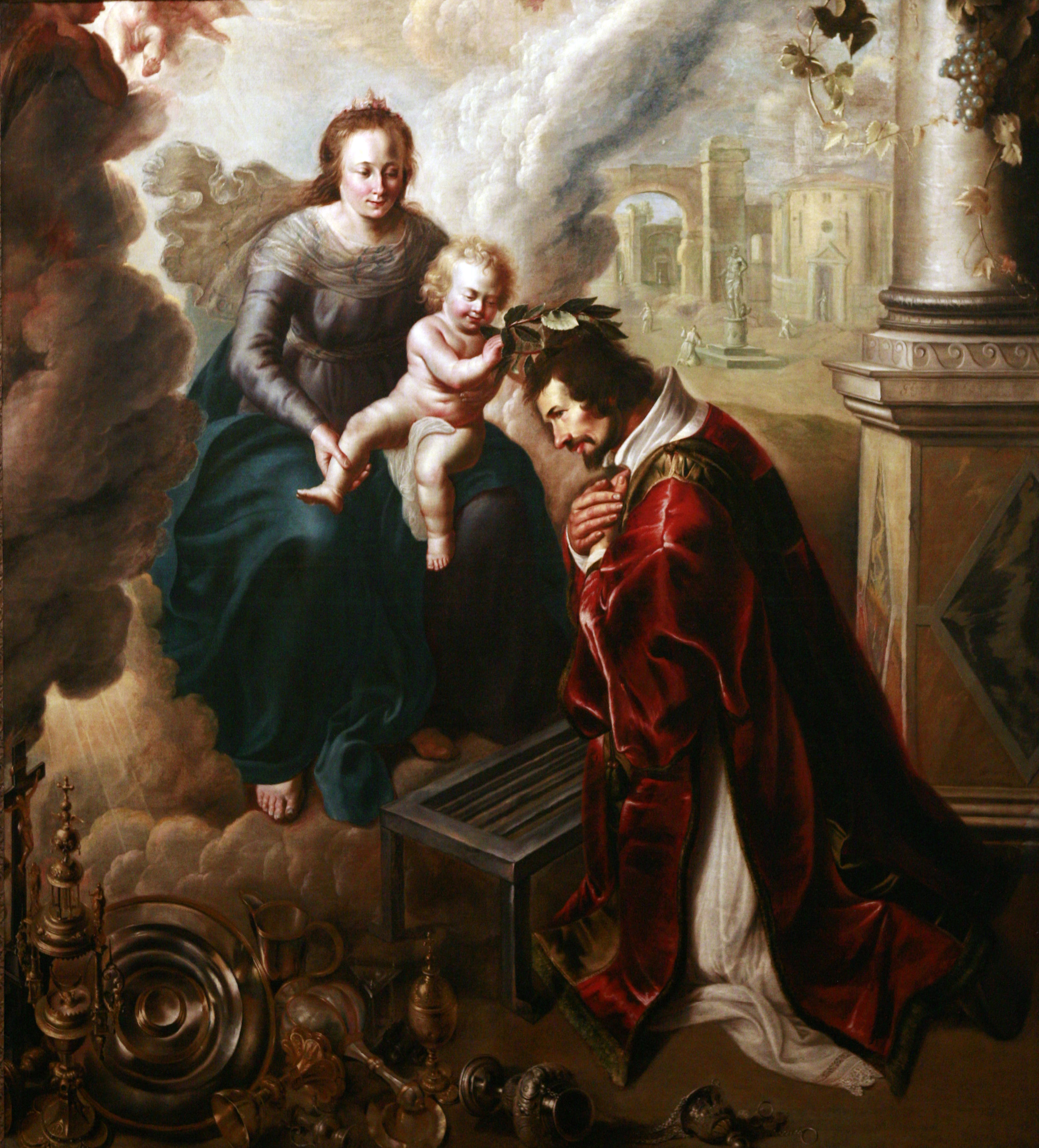 file saint lawrence crowned by baby jesus mg 0145 jpg wikimedia