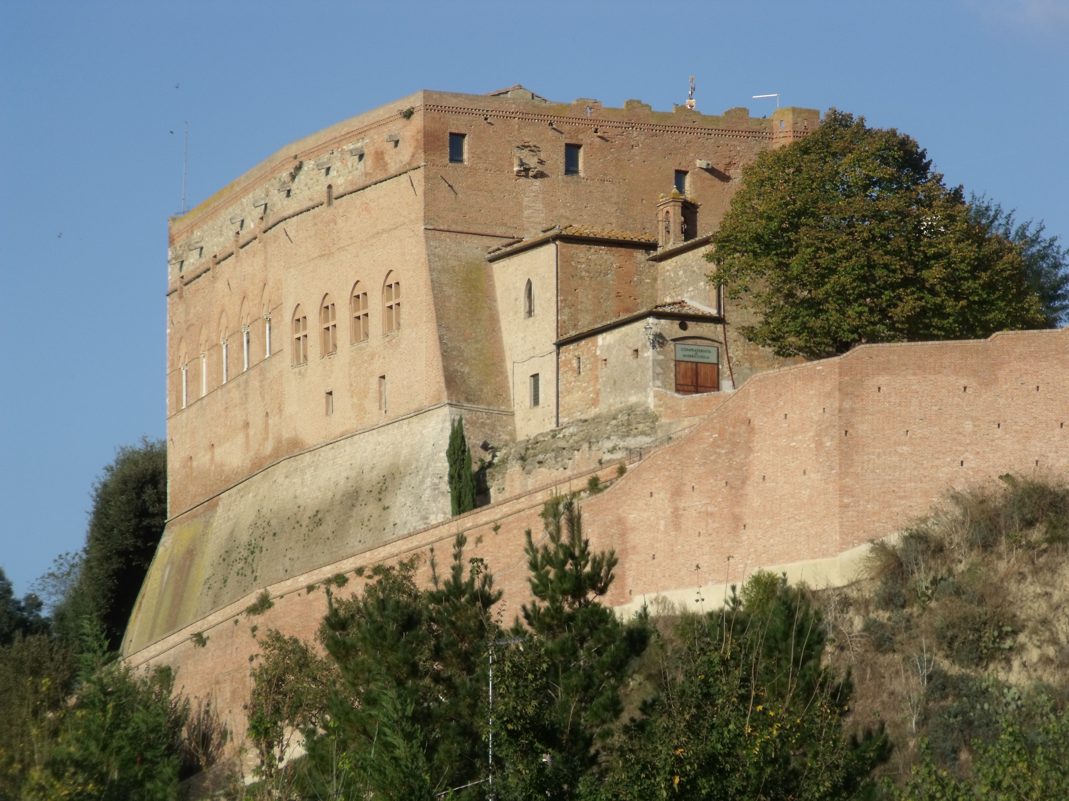 The Castle of San Giovanni d'Asso | Inner Entrance to the Castle