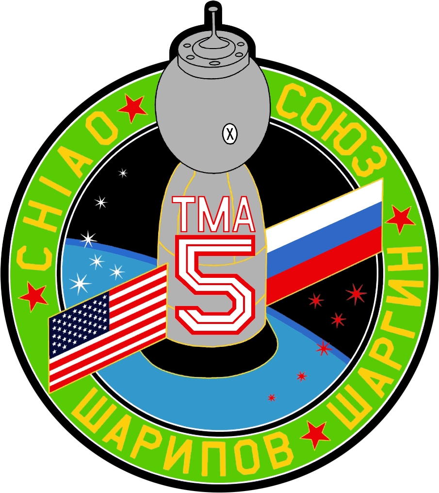 Animation assemblage ISS Soyuz_TMA-5_Patch