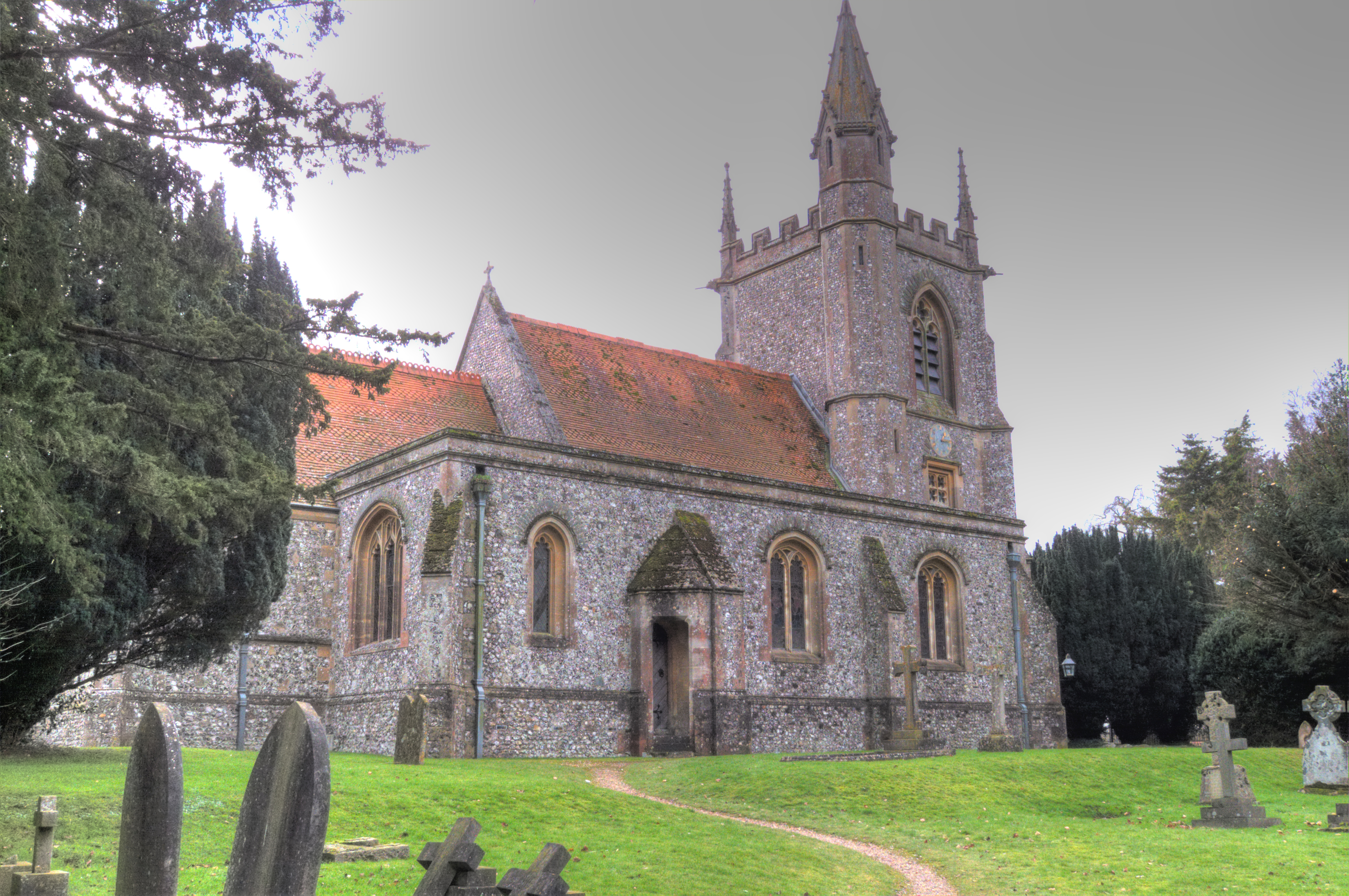 St Leonards Parish Church, Oakley, Hampshire-31Jan2010.jpg