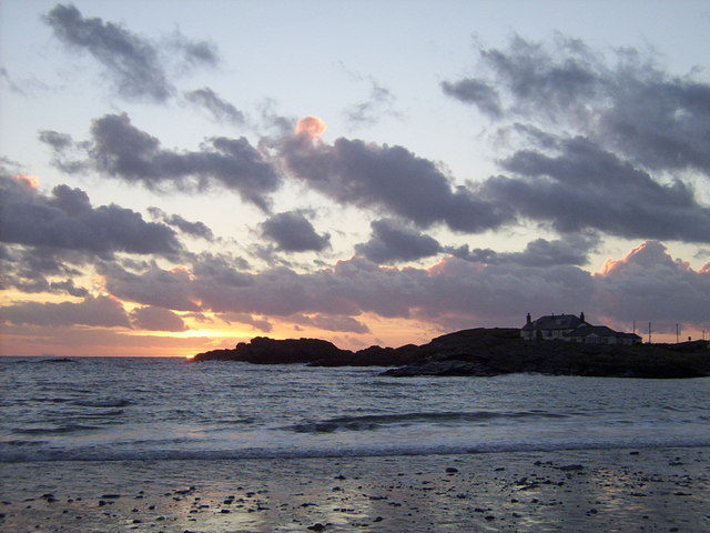 Sunset at Trearddur Bay - geograph.org.uk - 313783