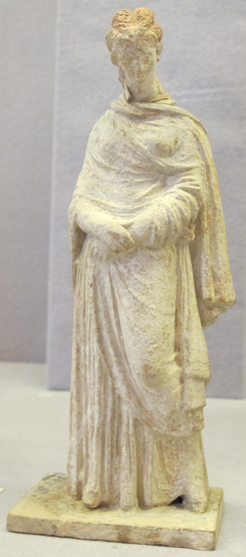 File Terracotta Da Tanagra Figure Femminili Iii Sec Ac