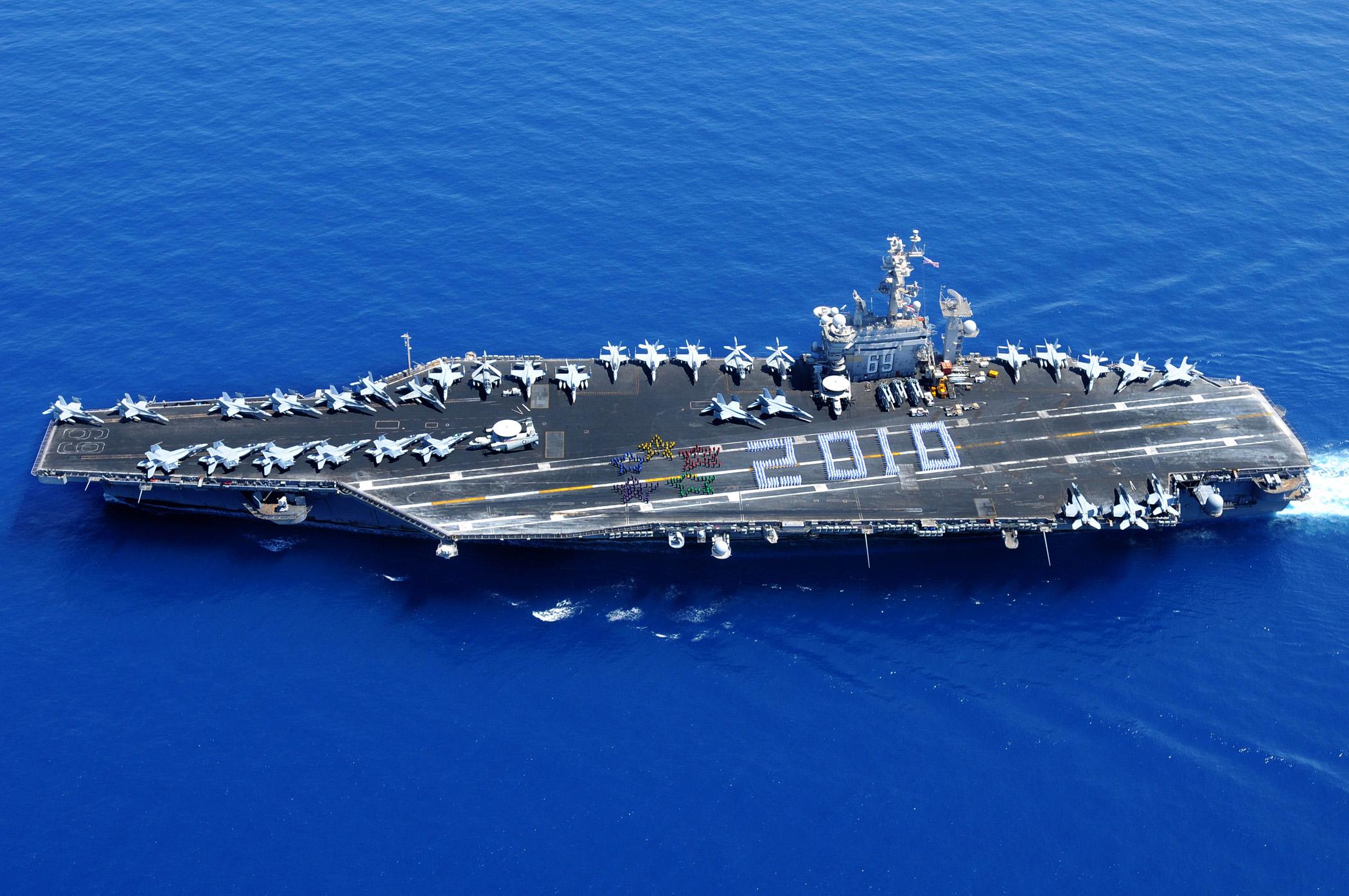 File us navy 100711 n 0901c 050 sailors aboard the aircraft carrier uss dwight d eisenhower - Liste des porte avions americains ...