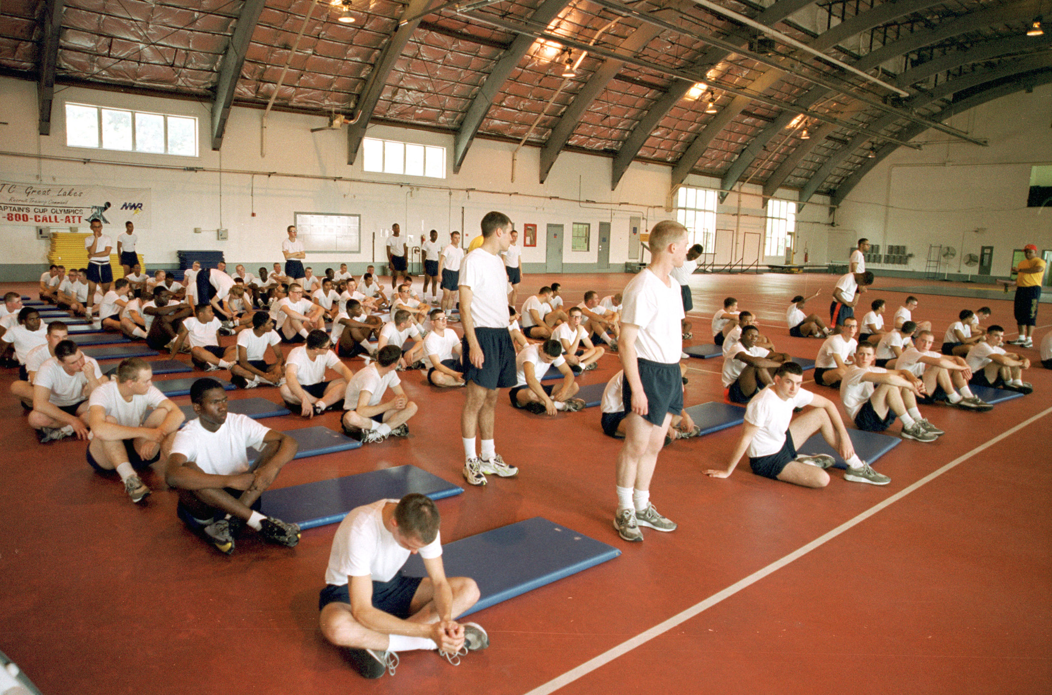 File:US Navy 990909-N-7495A-008 Recruits conduct physical fitness ...