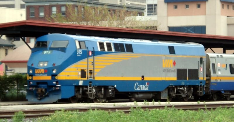 VIA Rail Diesel Locomotive London Ontario
