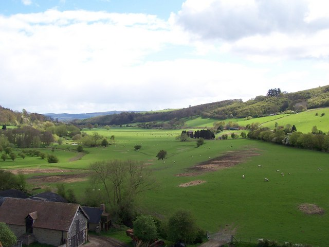 Valley of the River Onny from Stokesay Castle - geograph.org.uk - 614810