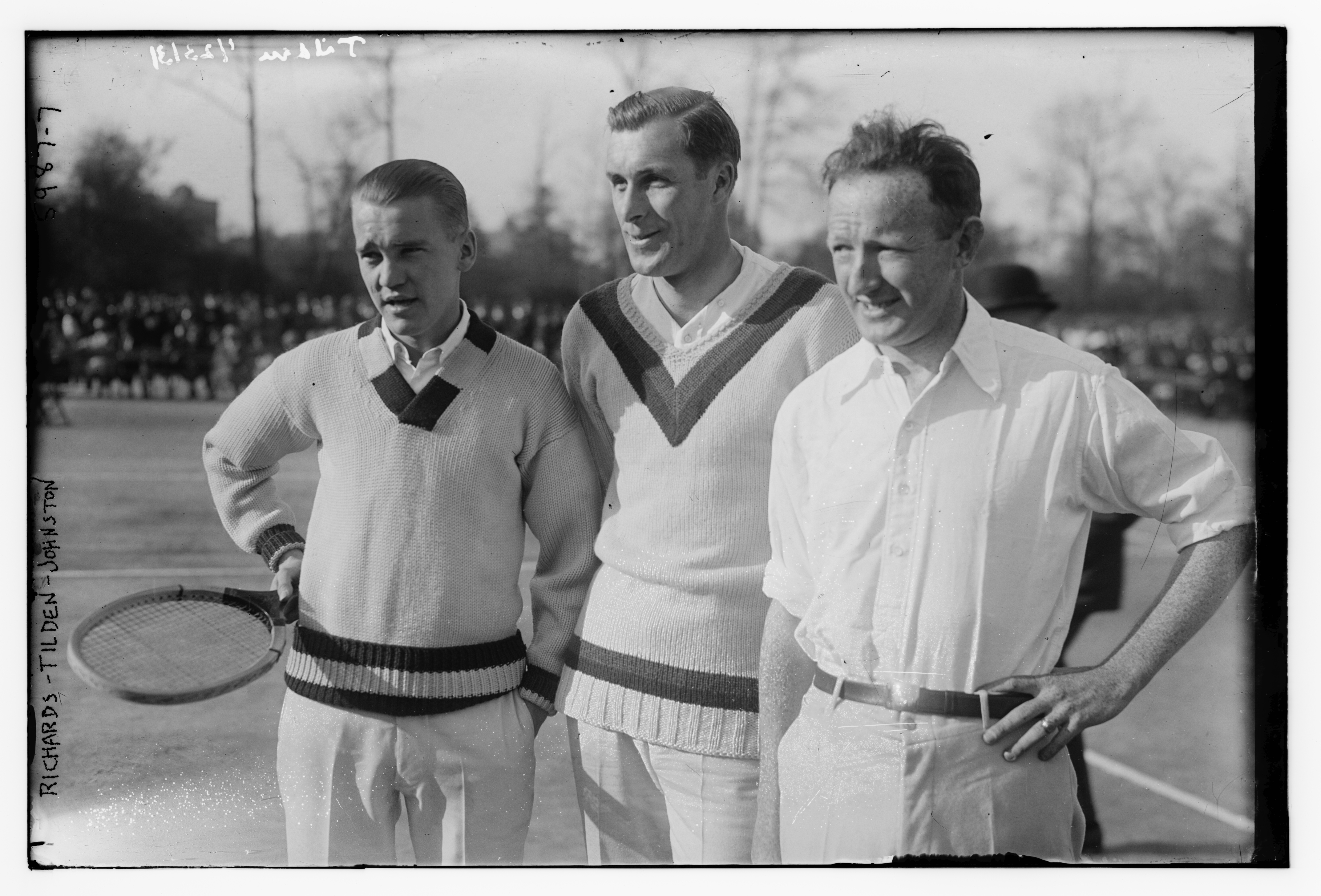File Vincent Richards Bill Tilden and Bill Johnston at the 1922
