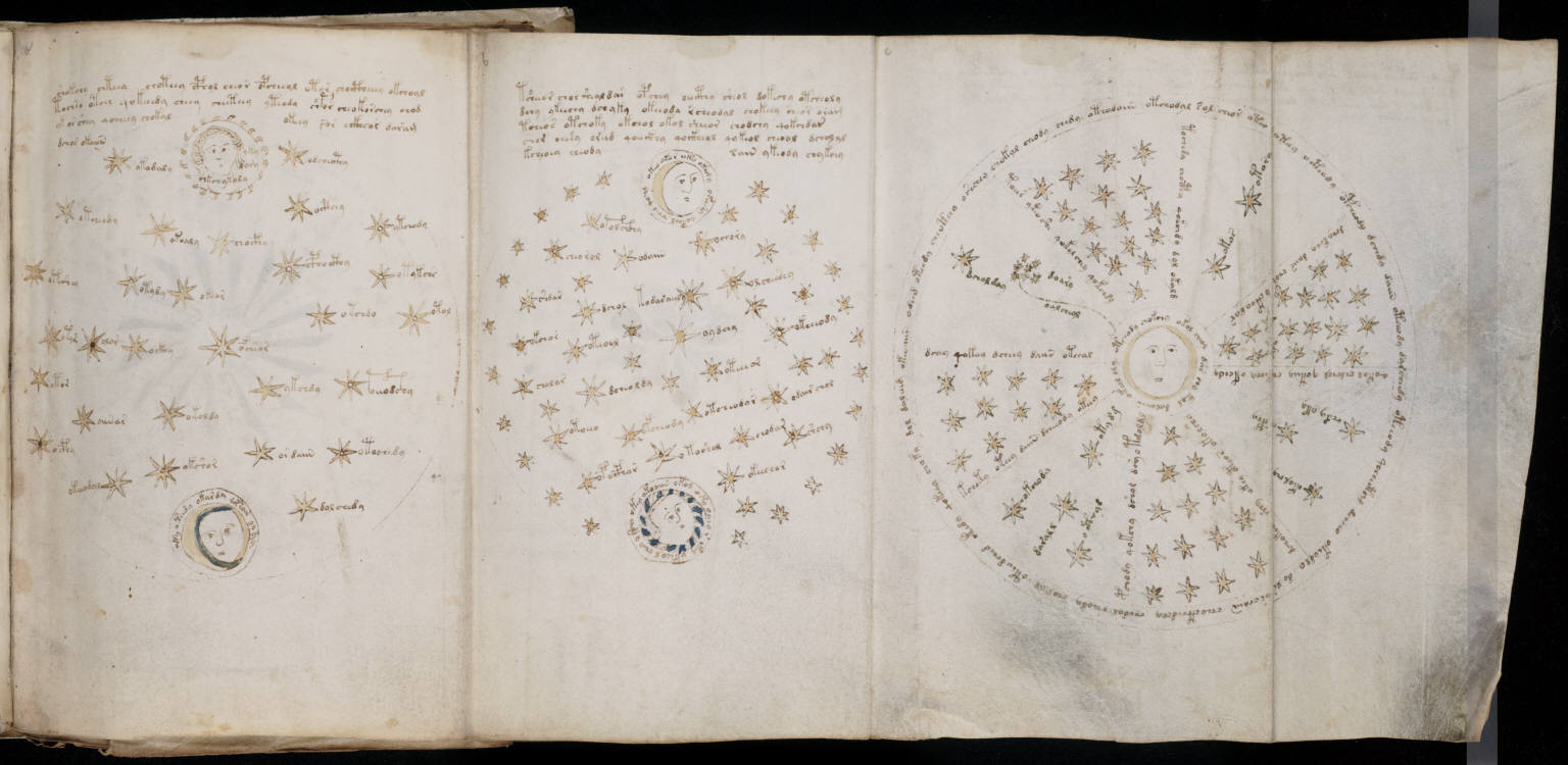 Voynich Manuscript %28123%29 ヴォイニッチ手稿(写本) どの言語にも属さない謎の文字!