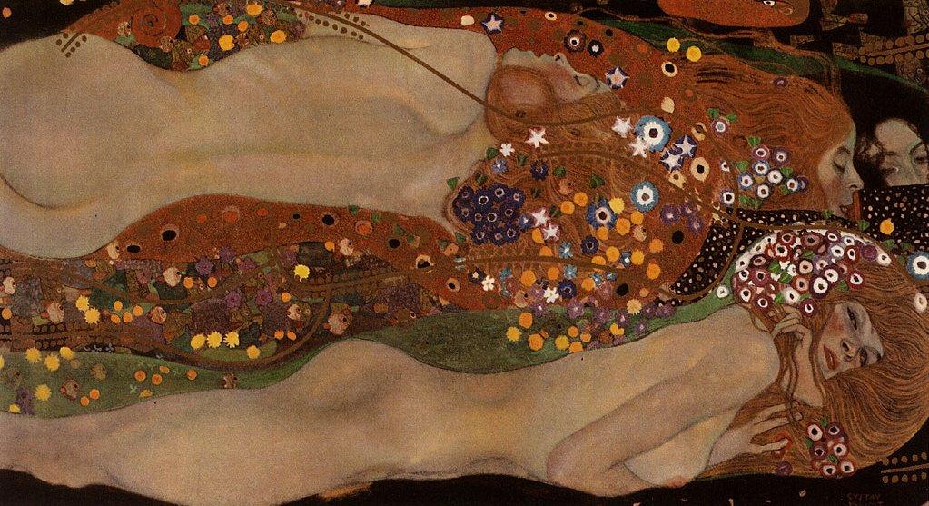 Gustav Klimt: Vodní hadi II, 1904