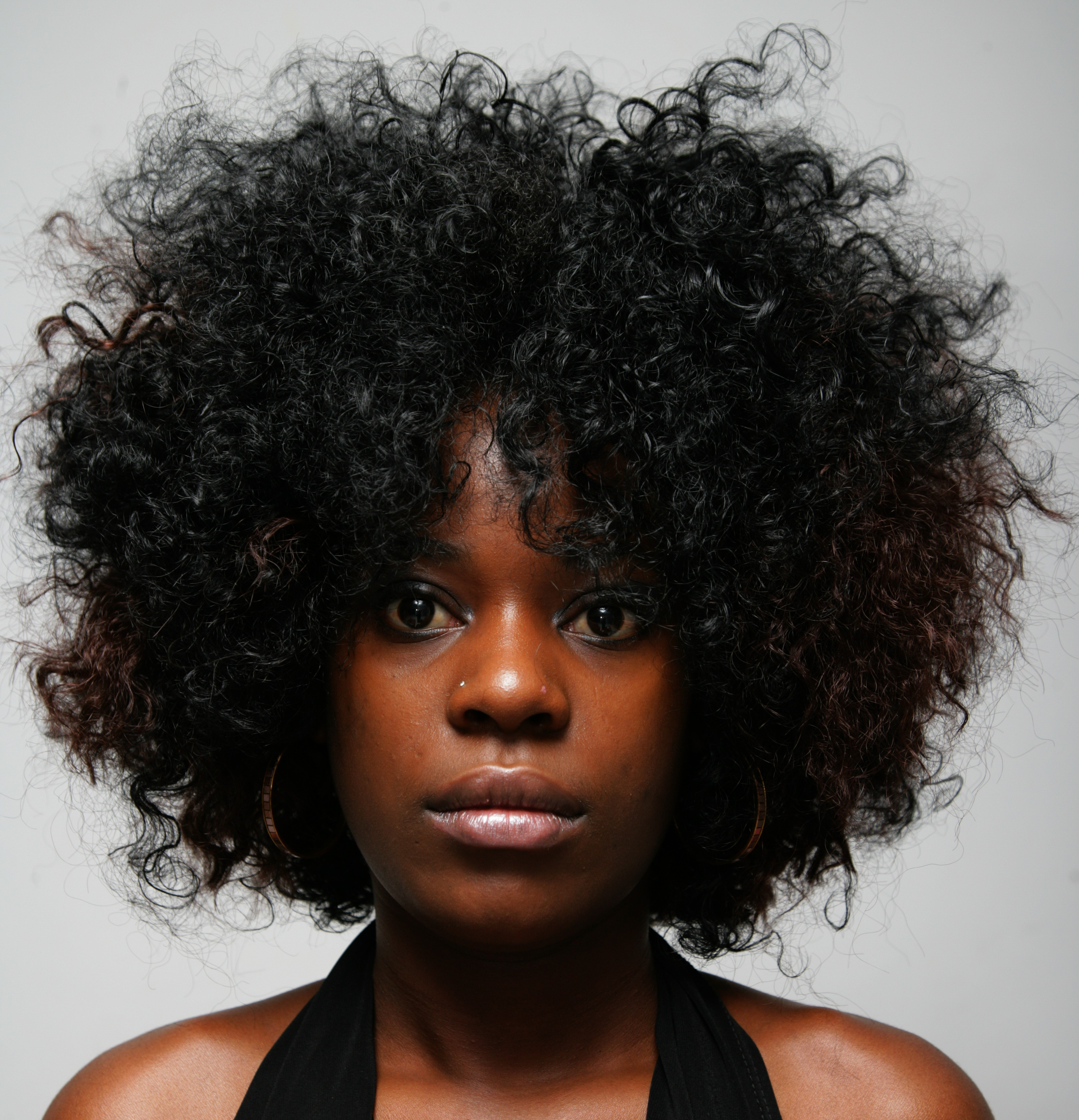 photo of African American woman with natural hair