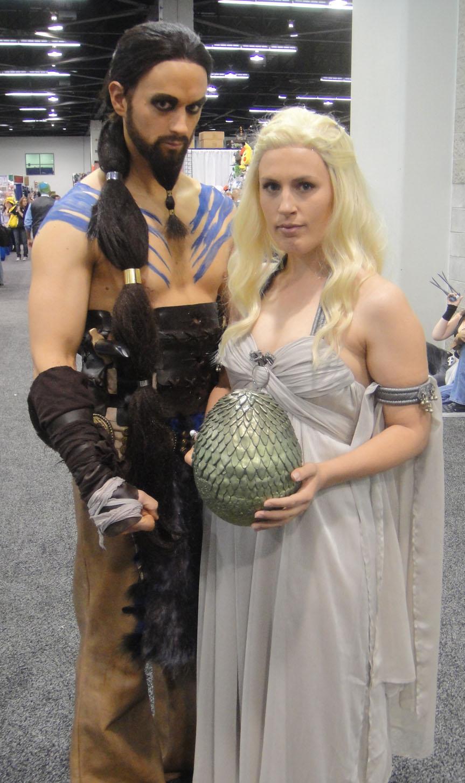 Daenerys targaryen and khal drogo wallpaper daenerys targaryen wedding - Khal Drogo And Daenerys File Wondercon 2012 Khal Drogo And Daenerys Targaryen From Game