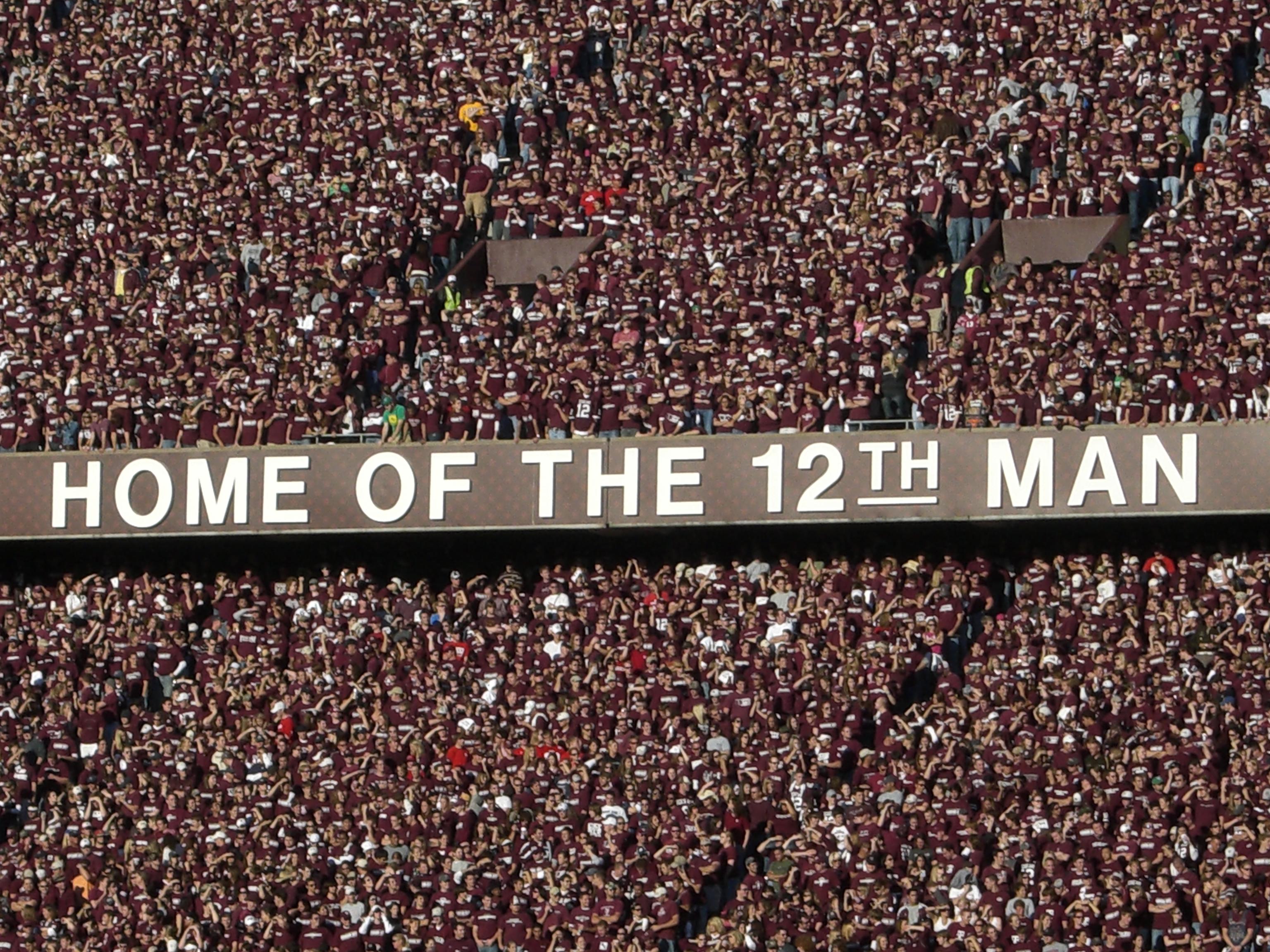 Texas a m background image - File 12th Man Trademark Slogan At Kyle Field Texas A M Jpg