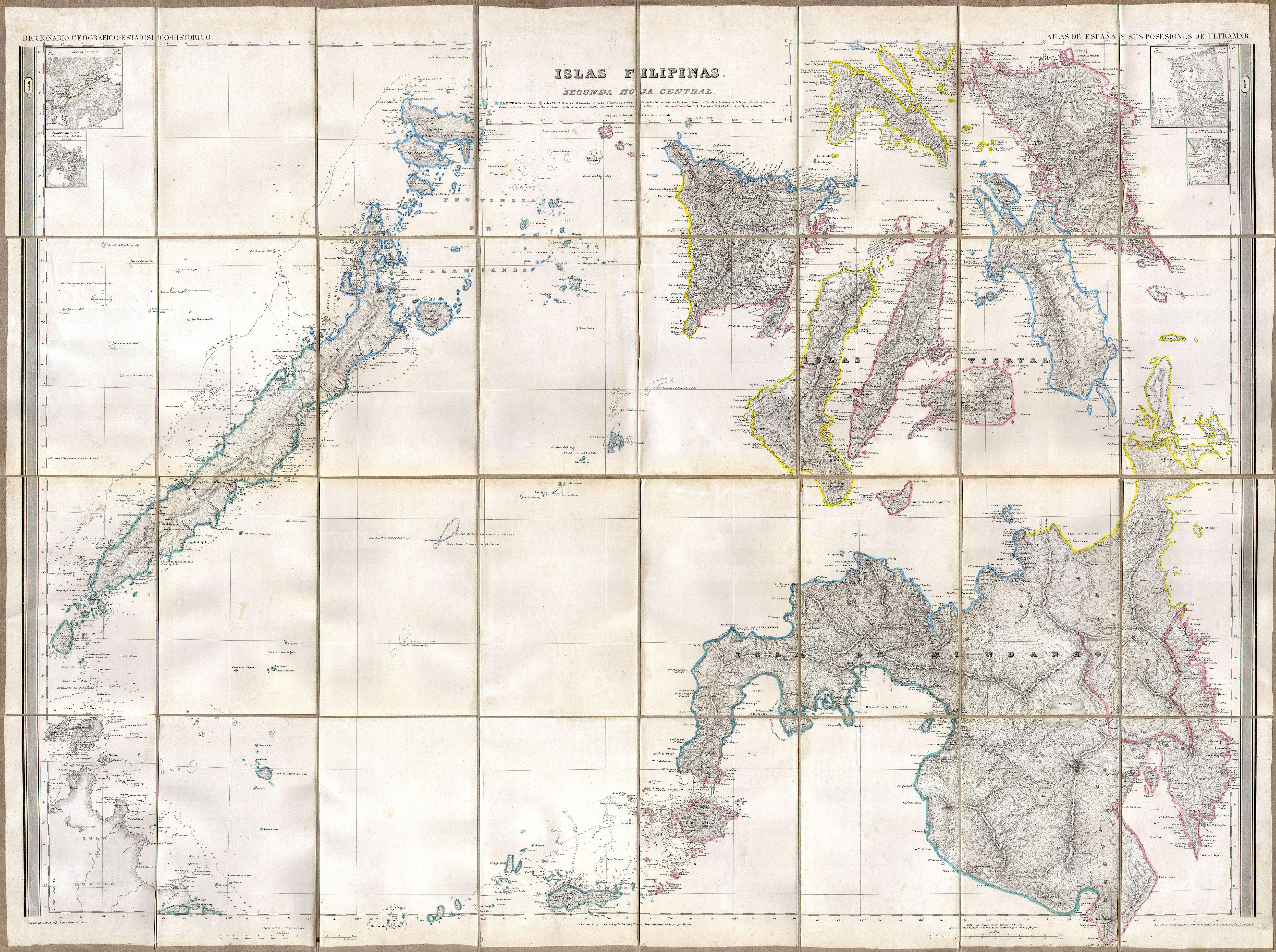 Spanish Philippines Map.Spanish Detailed Map Of The Philippines 1852 2 Of 2 5000 3732
