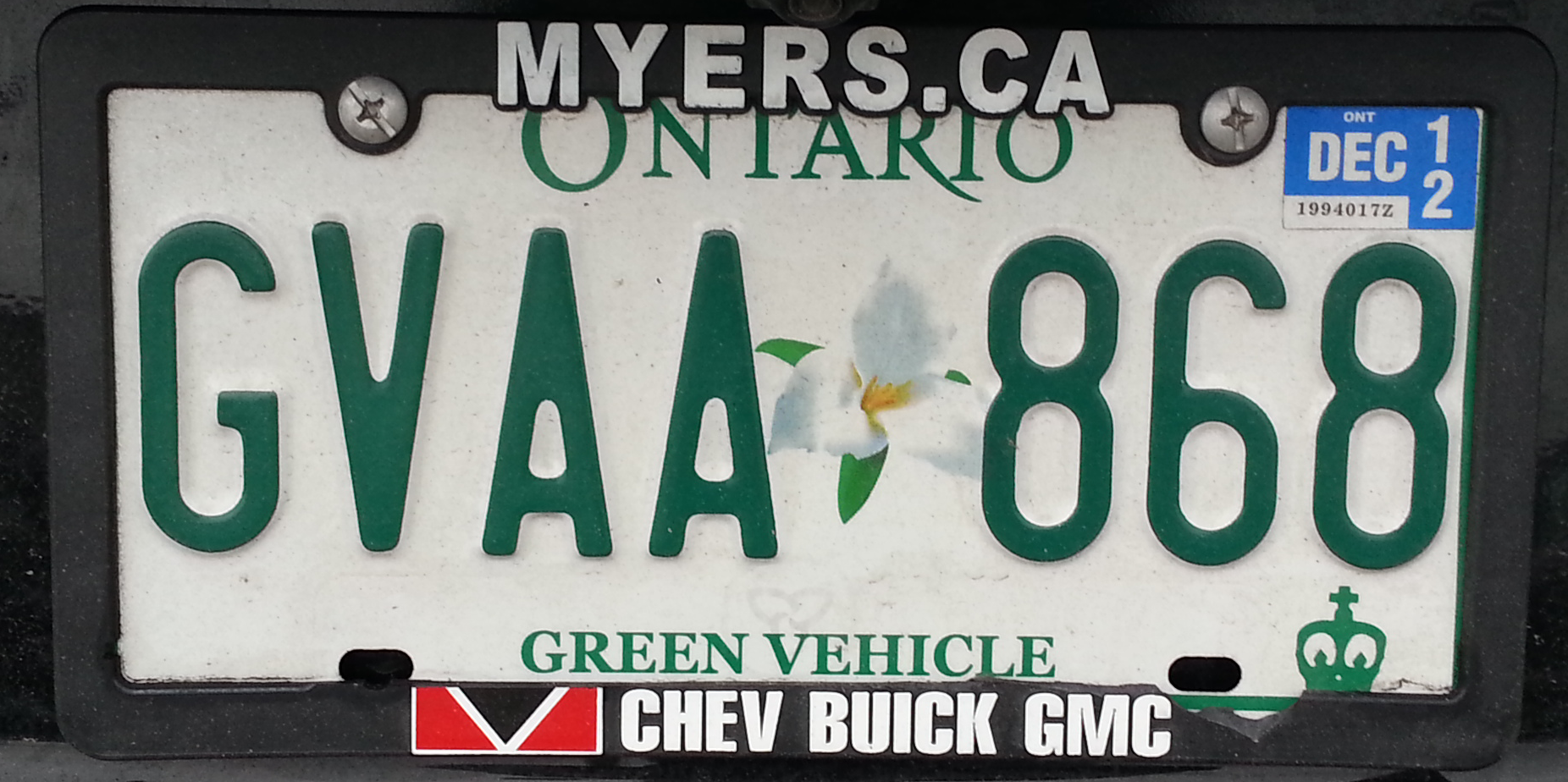 файл 2010 Ontario License Plate Gvaa 868 Electric Vehicle