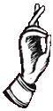 舊信徒(Old Believers)在劃十字聖號的手勢。