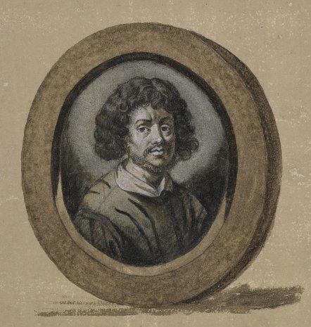 Claude Gellée, le Lorrain, perhaps a self-portrait, after [[Joachim von Sandrart|Sandrart]]. Frontispiece to the ''[[Liber Veritatis]]''