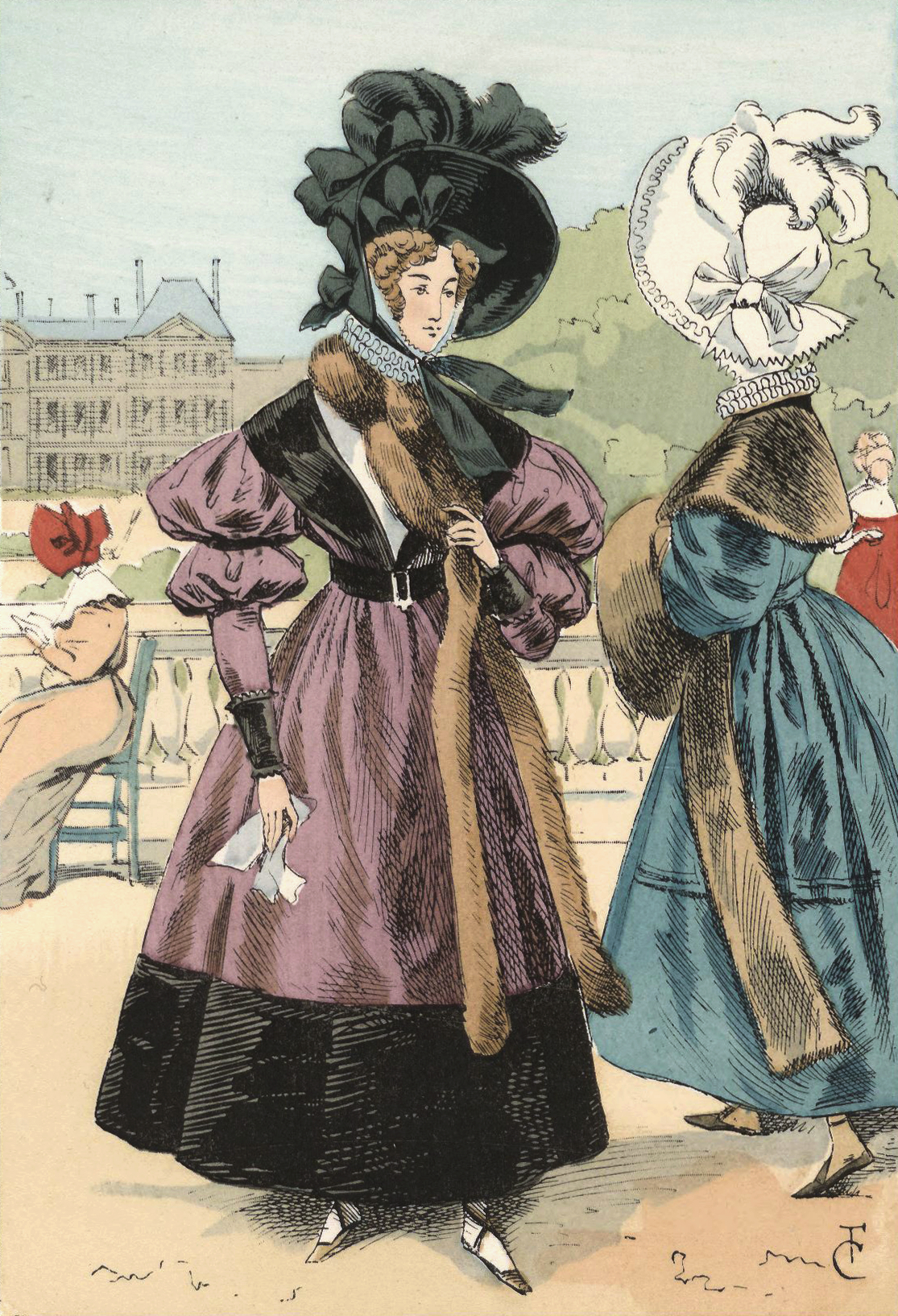File:A Winter stroll in the Luxembourg gardens, 1830.jpg