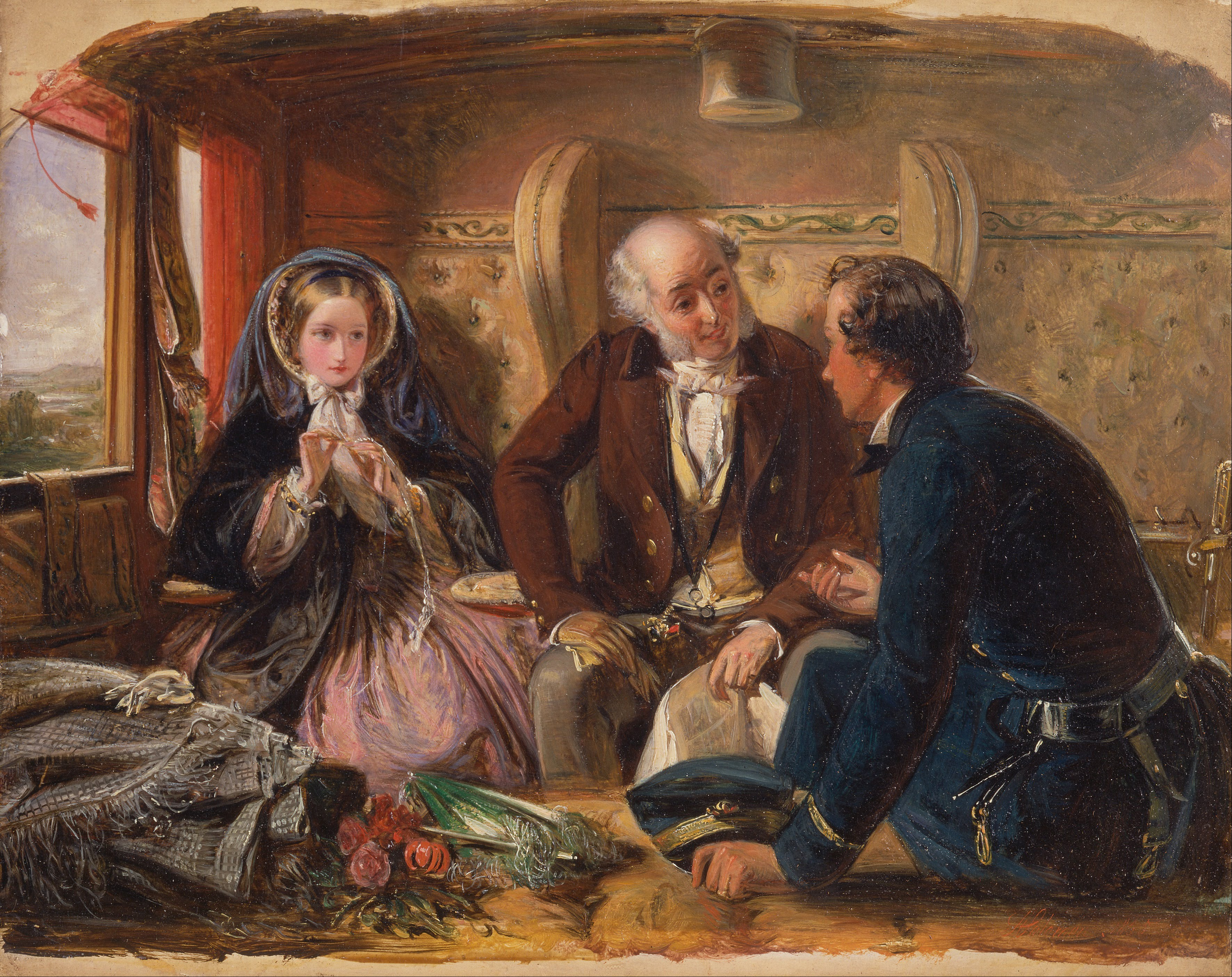 English Artist Abraham Carrage Painting