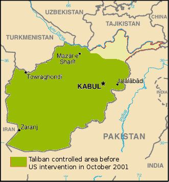 Taliban controlled area