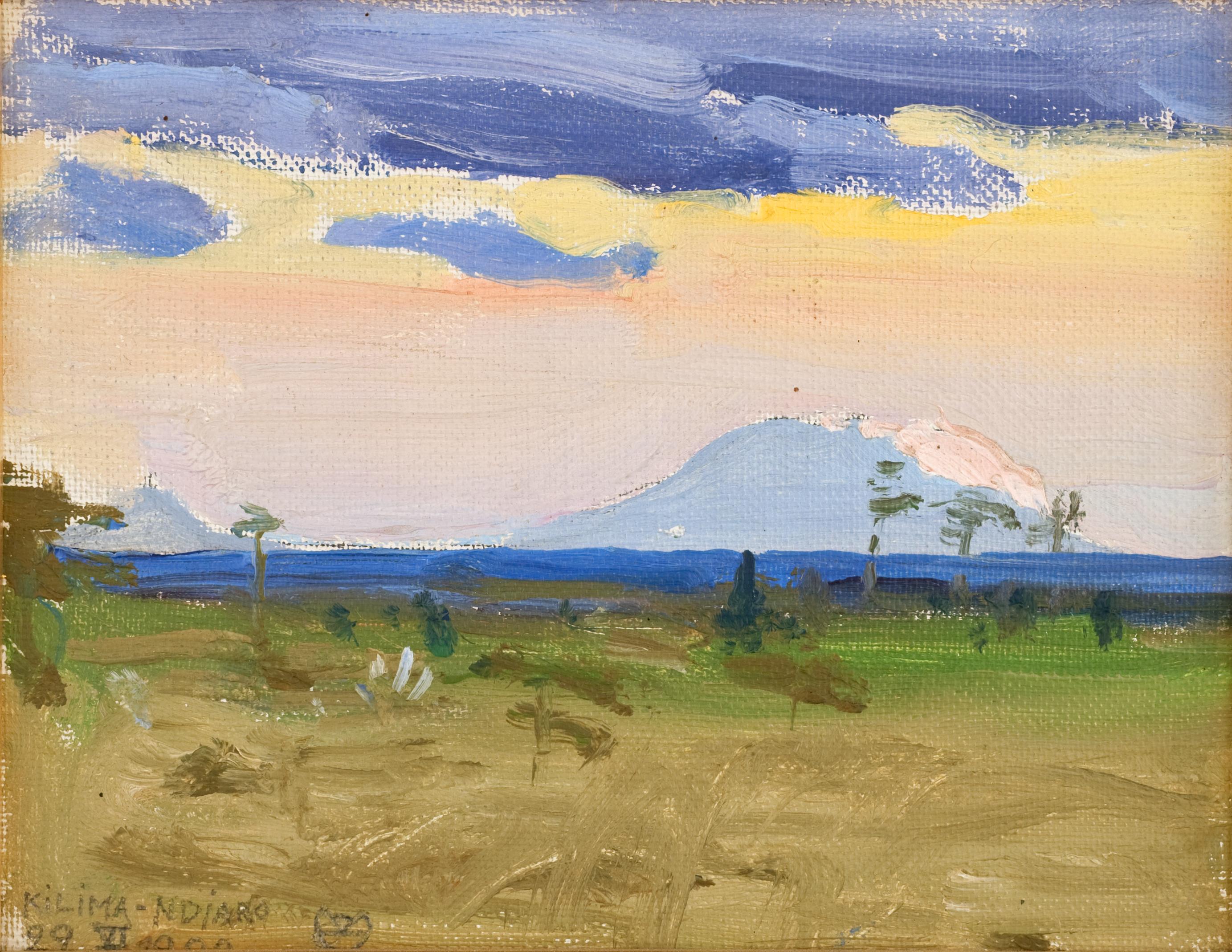 Akseli Gallen-Kallela Kilima-Ndjaro, 22 VI.1909.png