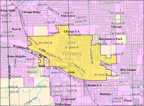 Alsip (IL) United States  city photo : Alsip IL 2009 reference map Wikimedia Commons