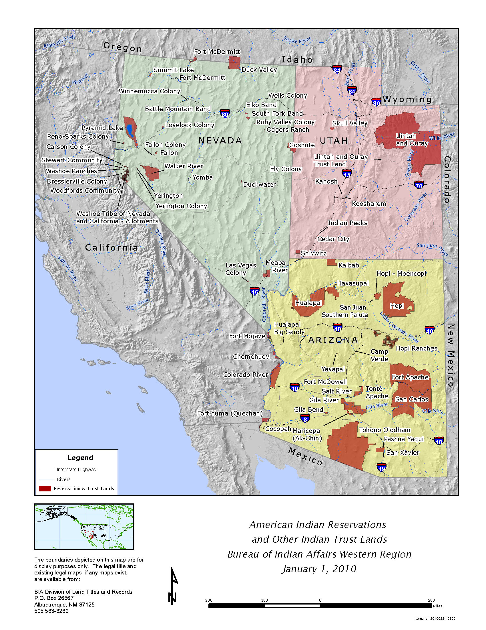 FileAmerican Indian Reservations And Other Indian Trust Lands - Map of native american tribes in arizona