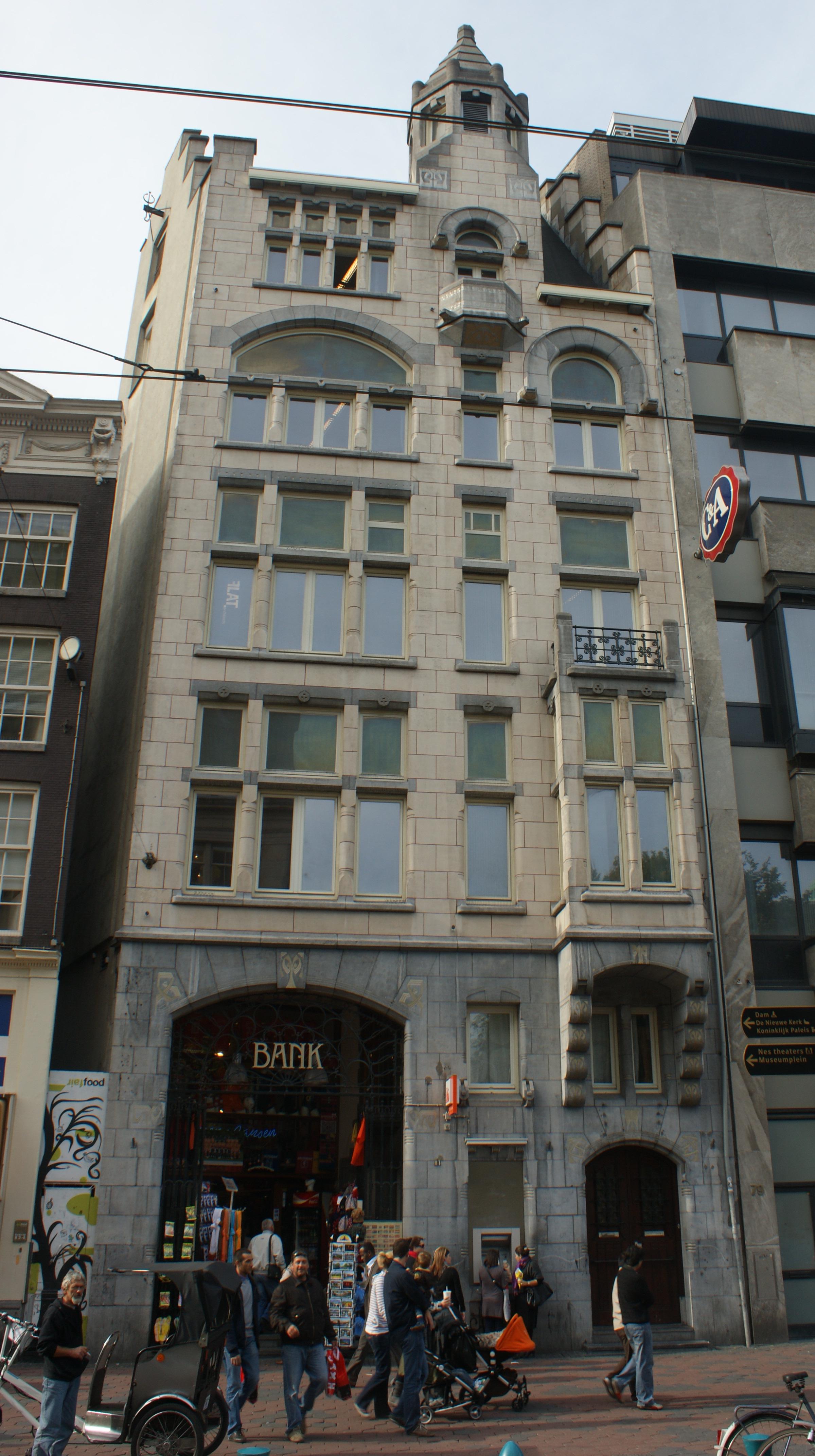 Stijl Van Amsterdam.Bankgebouw Naar Een Ontwerp In Een Sobere Art Nouveau Stijl