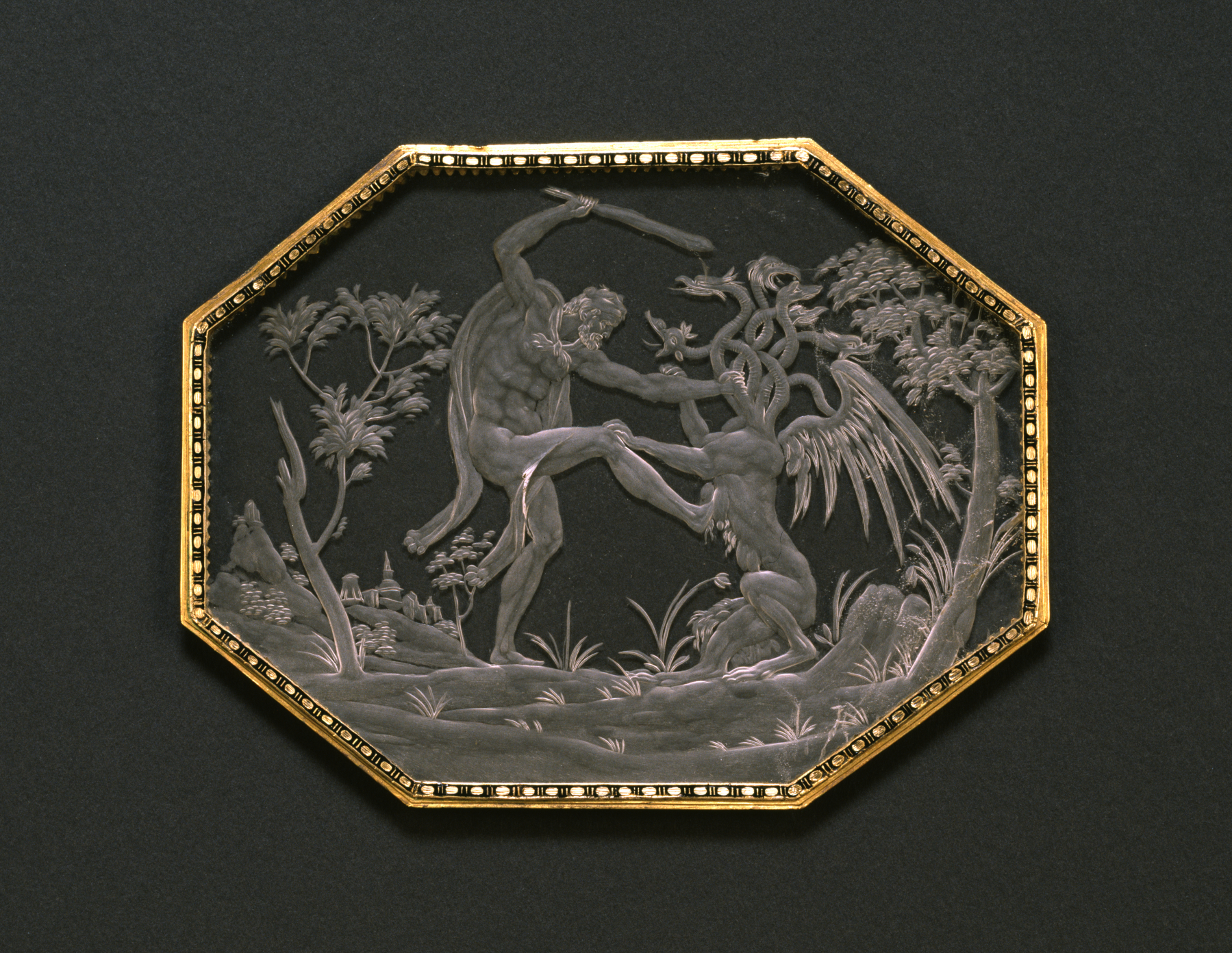 File:Annibale Fontana - Plaque with Hercules Attacking the Lernean