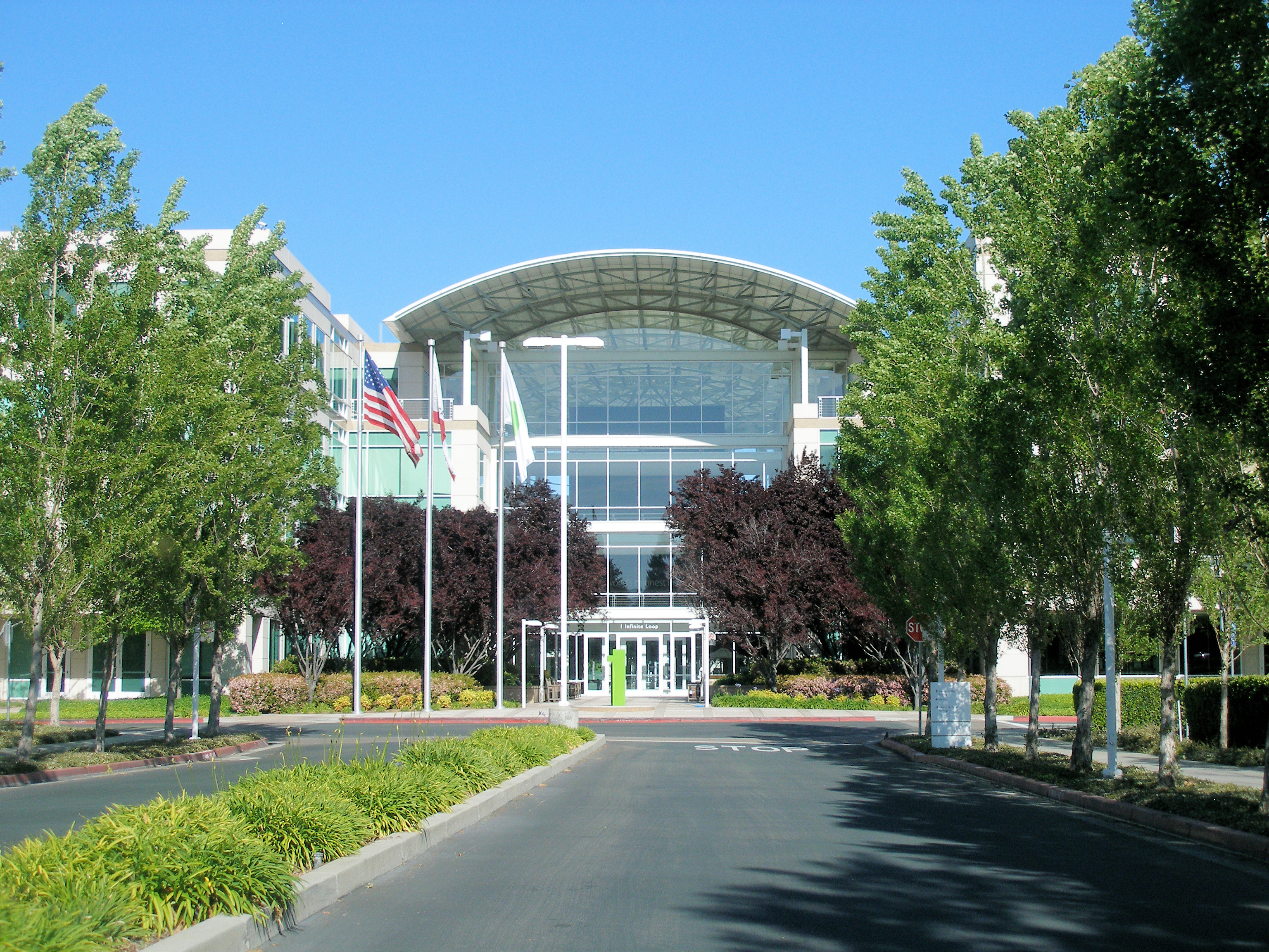 Steven Jobs And The Apple Headquarters In Cupertino
