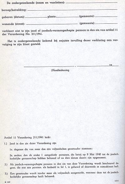 ontslagbrief tekenen voor ontvangst voorbeeld Ariërverklaring   Wikipedia ontslagbrief tekenen voor ontvangst voorbeeld