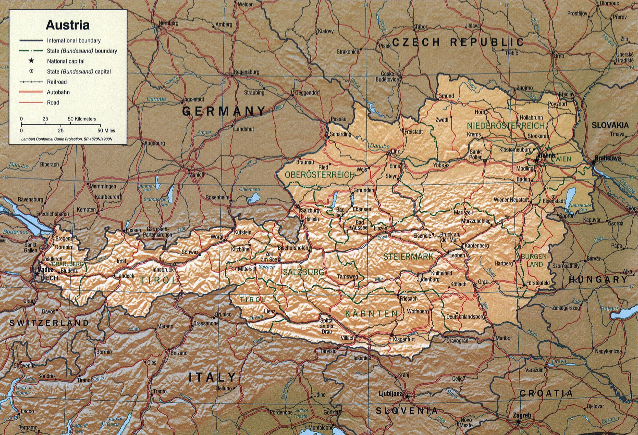 Cartina Geografica Dell Austria.Geografia Dell Austria Wikipedia