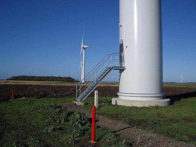 File Base Of Wind Turbine Vine House Farm