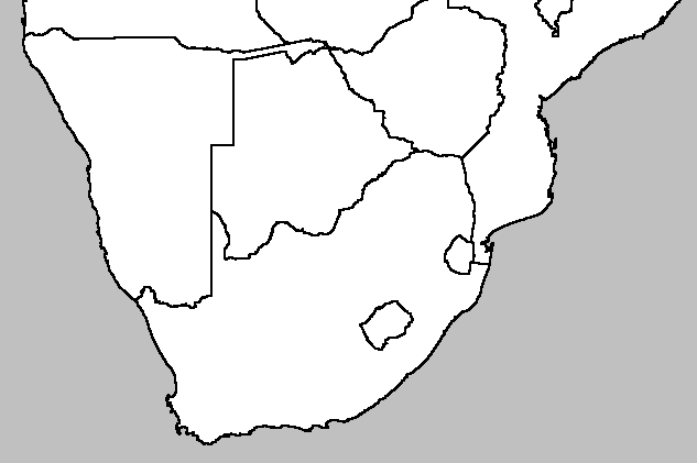 Blank Map Of Southern Africa | Jackenjuul
