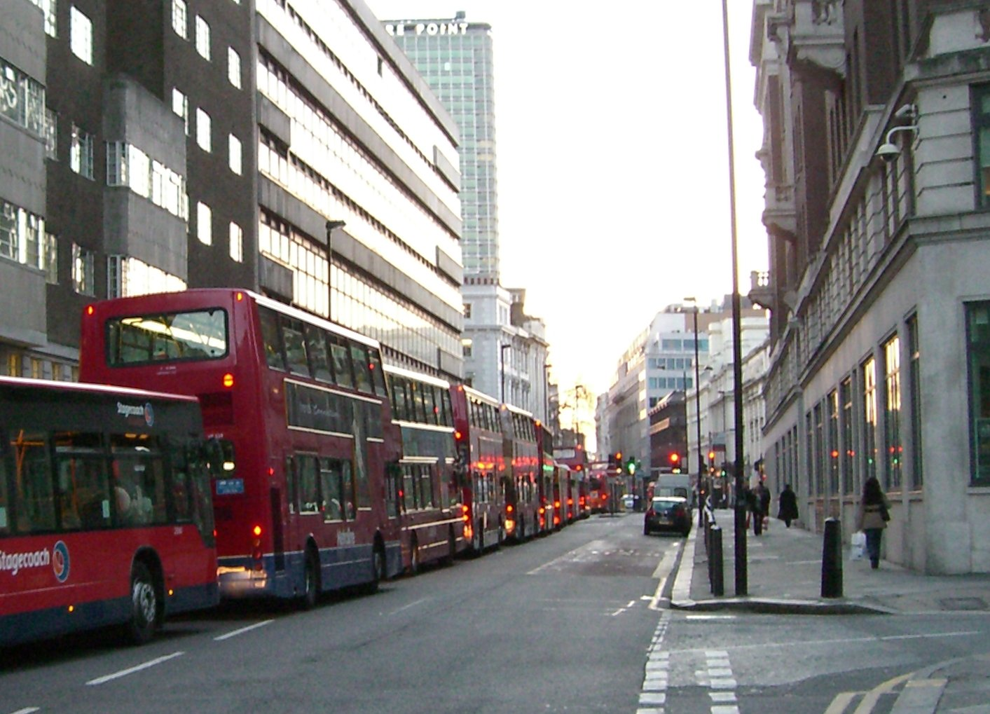 File bus congestion on new oxford street