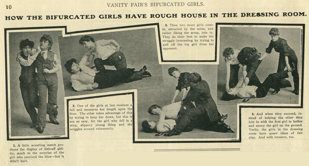 Fete bifurcate, Vanity Fair 1903