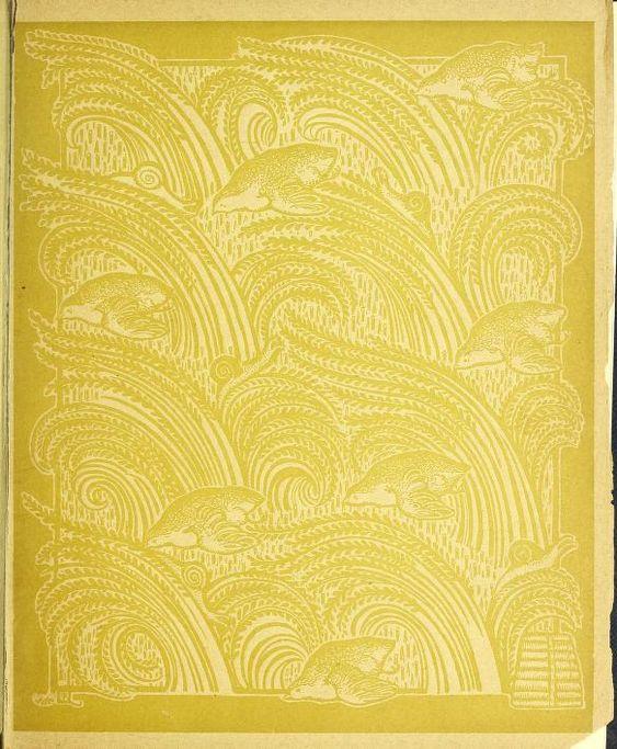 English Charles Ricketts Pomegranate book binding design 1891