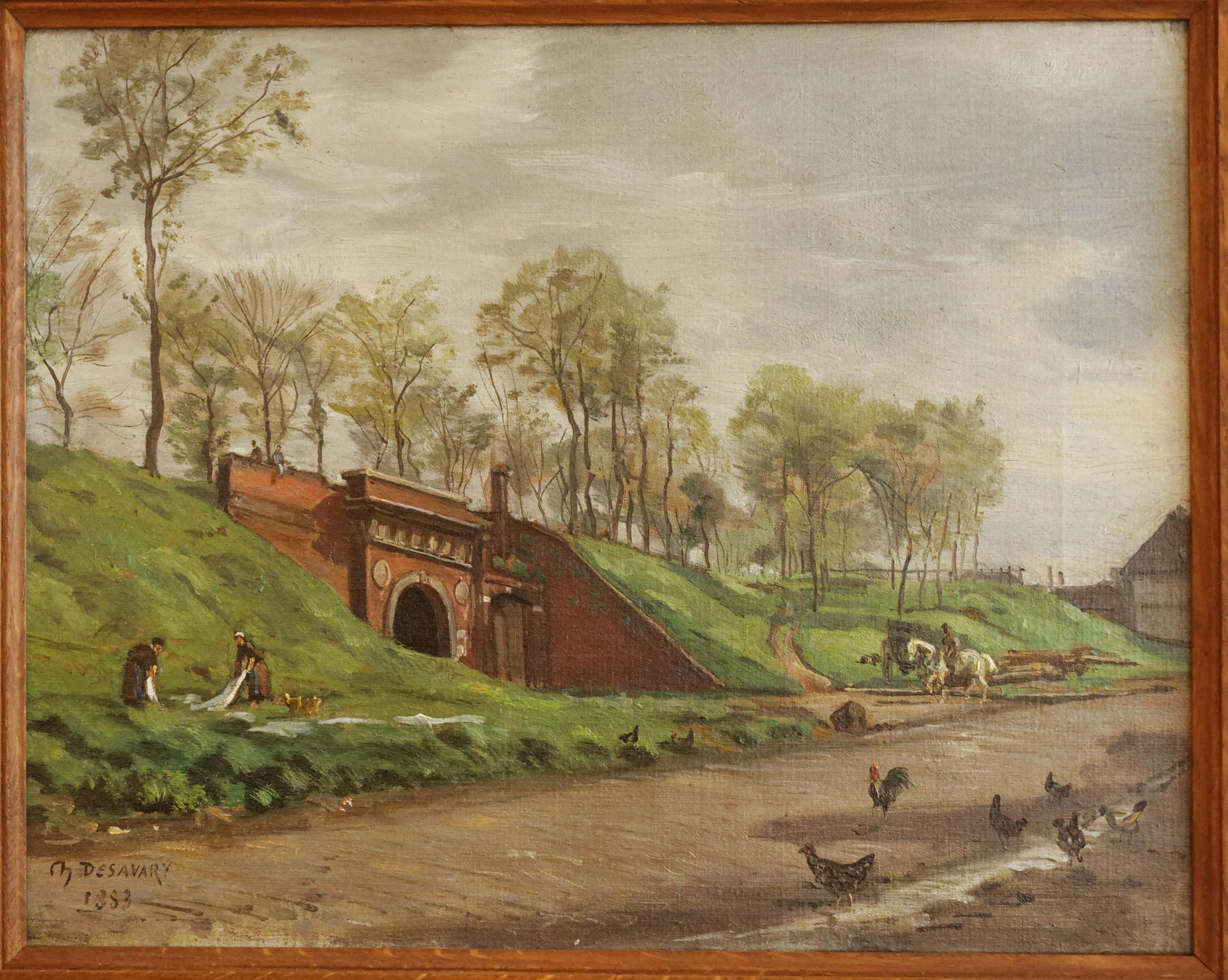 Charles Desavary - La porte du quai à Arras 1883