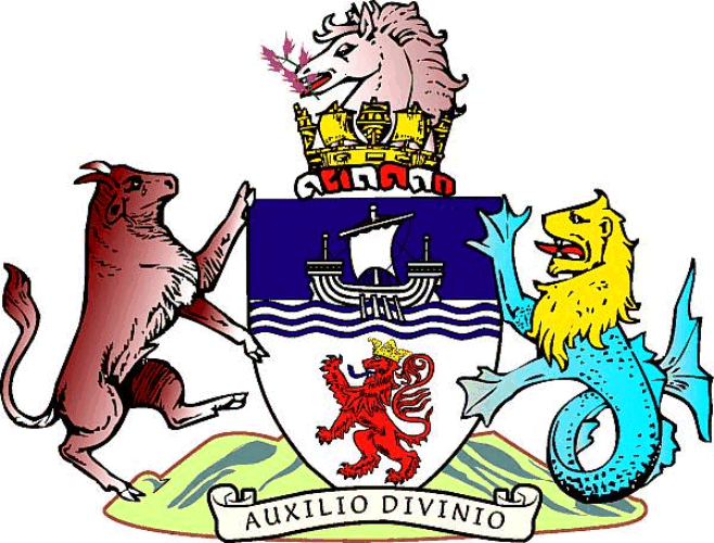 The coat of arms of Devon County Council
