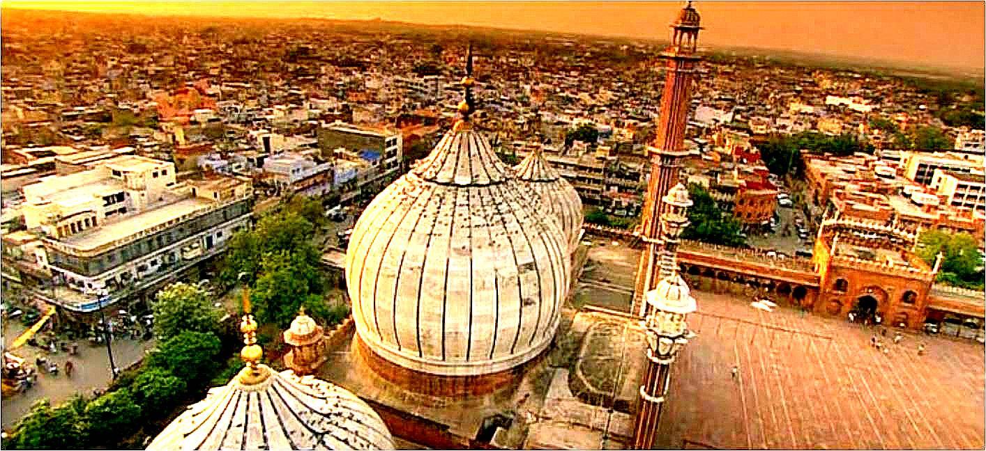File:Dome of Shahi jama maszid Delhi.jpg - Wikimedia Commons