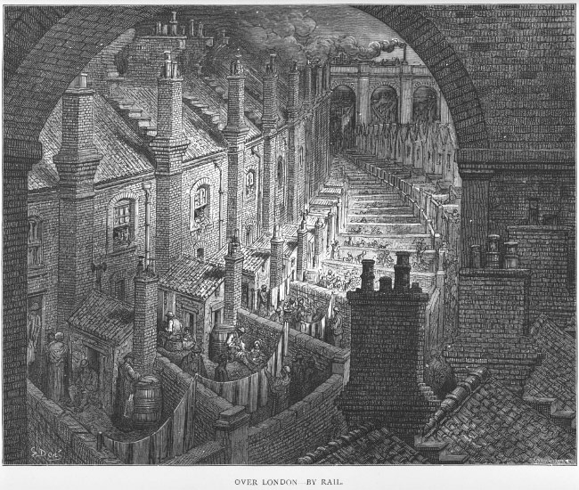 A view over London as it thrives during the industrial revolution